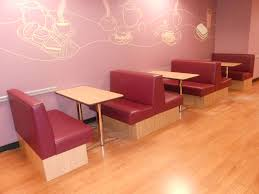Banquette Seating Fixed Bench Fixed Standard Booth Seating