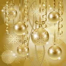 gold christmas christmas background with baubles in gold by luisaventuroli