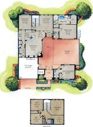 one story house plans with indoor pools