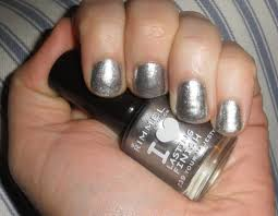 fashionable black and silver nails design nail art designs