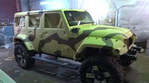 green camo jeep vopsea raptor camuflaj jeep wrangler rubicon youtube