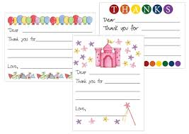 printable thank you card templates for kids card templates