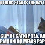Newspaper Cat Meme - cat newspaper meme generator imgflip