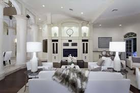 Living Room Built In Living Contemporary Living Room With Built In Bookshelf U0026 Cathedral