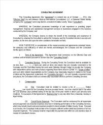 sample business consulting agreement template 7 free