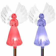 Christmas Yard Decorations Angel by Amazon Com Solar Powered Frosty Fairy Angel Lights Color Changing