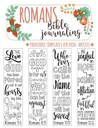 romans 4 bible journaling printable templates illustrated