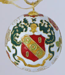 alpha gamma delta cloisonne ornament with 24k gold plating