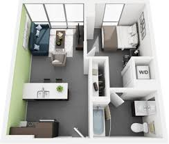 1 bed 1 bath apartment floor plan vue53