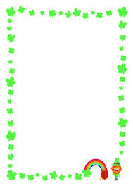 free st patrick u0027s day printable writing paper with clover border