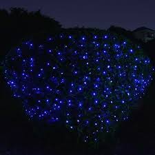 blue tree lights with white cord led