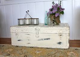 Trunk Like Coffee Table by My Passion For Decor Neglected Steamer Trunk Makeover