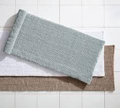 Cheap Bathroom Rugs Textured Organic Bath Rug Wide Pottery Barn