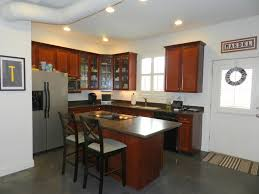 alluring contemporary kitchen with l shape kitchen island also