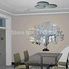 shop rich tree 3d wall mirror decal sticker 646x800mm