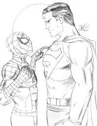 spiderman superman id markman777 deviantart