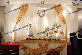 wedding backdrop online online shop 3x6m luxury wedding curtain with gold drape wedding