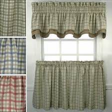 Country Plaid Valances Kitchen Country Kitchen Valances Pearlie 51in Curtain Valance