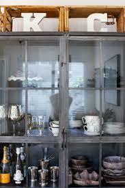 World Market Hutch Metal Display Cabinet