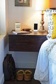 Wall Mounted Nightstand Bedside Table Furniture How To Design Good Floating Nightstand For Bedroom