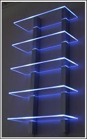 Wandgestaltung Wohnzimmer Mit Beleuchtung Glasregale Mit Led Beleuchtung Am Besten Abbild Oder Wandregale