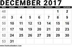 free blank printable december 2017 calendar template online