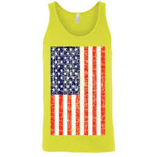 Green White Orange Flag Usa Flag Tank Top Shirt Distressed American Pride Men U0027s U2013 Old