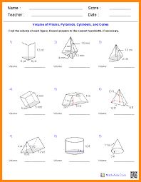 5 calculating volume worksheets math cover