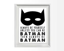 Batman Home Decor Batman Quotes Etsy