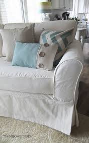 Cottage Style Sofa by Cottage Style Slipcover Custom Made In Cotton Poly Canvas