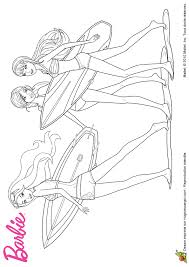 coloriage barbie sirene surf sur hugolescargot com