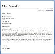 auto mechanic cover letter automotive technician resume cover