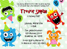 monster birthday party invitations marialonghi com