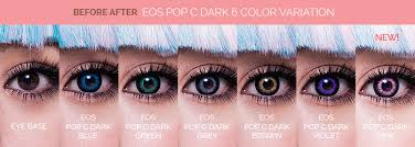 eos pop dark blue circle lenses colored contacts pinkyparadise