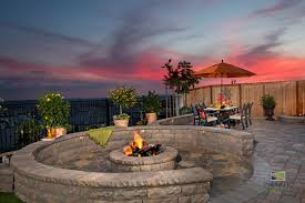 fire pit project enhances california property turf