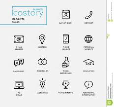 welding resume objective modern resume simple thin line design icons pictograms set stock modern resume simple thin line design icons pictograms set stock vector