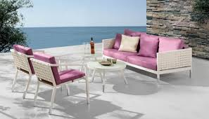Taco Modern Outdoor Sofa Set With  Chairs - Modern outdoor sofa sets 2