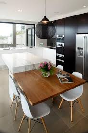 kitchen island with table attached how to make kitchen interiors cozy harmonize kitchen design and