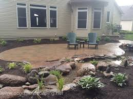 Patio Stone Designs by Backyard Stone Patio Designs 25 Best Ideas About Stone Patios On