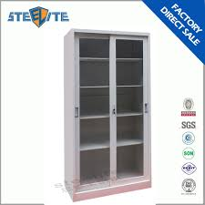 Metal Storage Cabinet With Doors Metal Storage Cabinet With Glass Doors Best Home Furniture