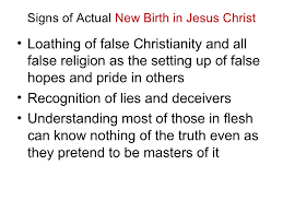 the of new birth in jesus versus the lie of ascension