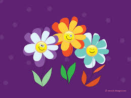 Cute Flower Wallpapers - purple flower backgrounds smiley flowers background purple