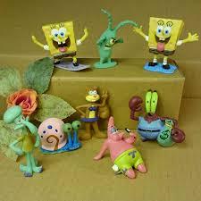 spongebob aquarium decoration fish tank ornaments set of 8