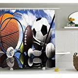 Sports Bathroom Accessories by Amazon Com Sports Fanatic Shower Curtain Hooks Bathroom