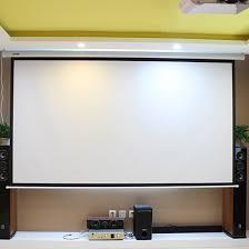 bureau motorisé hd écran de projection électrique 150 pouce avec télécommande 16 9