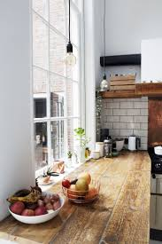 kitchen design wall open kitchen shelves perfcet oak wooden wall open kitchen shelves perfcet oak wooden butcher block conntertop pendant light white ceramic tile backsplash