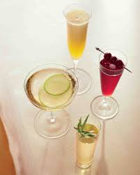 cocktail recipes champagne cocktail recipes for a bridal shower martha stewart