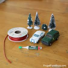 bringing home the tree car ornament for to make