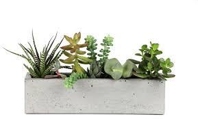 concrete windowsill planter modern indoor pots and planters