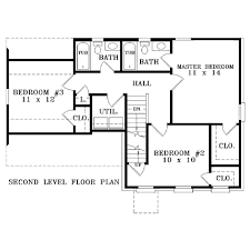 colonial style house plan 3 beds 2 50 baths 1300 sq ft plan 81